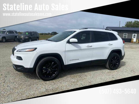 2016 Jeep Cherokee for sale at Stateline Auto Sales in Mabel MN