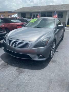 2012 Infiniti G37 Convertible for sale at Navarro Auto Motors in Hialeah FL