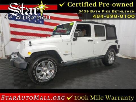 2015 Jeep Wrangler Unlimited for sale at STAR AUTO MALL 512 in Bethlehem PA