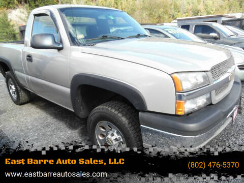 2004 Chevrolet Silverado 1500 for sale at East Barre Auto Sales, LLC in East Barre VT