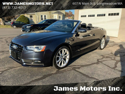 2014 Audi A5 for sale at James Motors Inc. in East Longmeadow MA