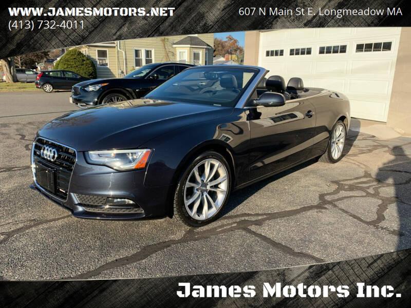 2014 Audi A5 for sale at James Motors Inc. in East Longmeadow MA