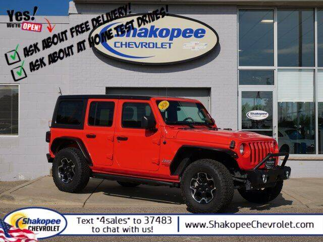 2020 Jeep Wrangler Unlimited for sale at SHAKOPEE CHEVROLET in Shakopee MN