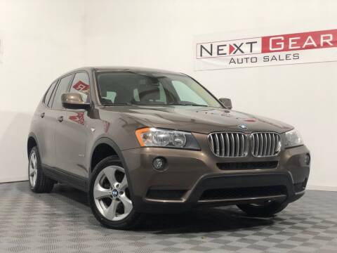 2012 BMW X3 for sale at Next Gear Auto Sales in Westfield IN