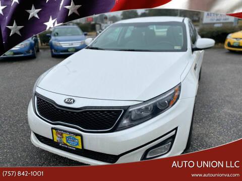 2015 Kia Optima for sale at Auto Union LLC in Virginia Beach VA