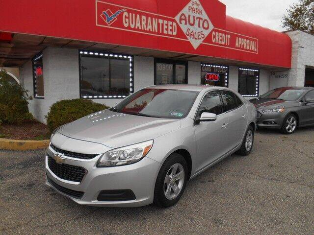 2016 Chevrolet Malibu Limited for sale at Oak Park Auto Sales in Oak Park MI