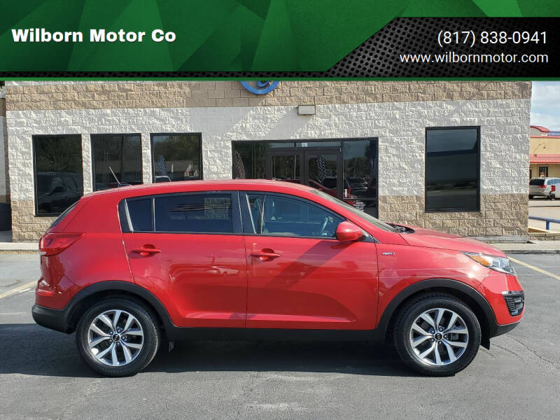 2015 Kia Sportage for sale at Wilborn Motor Co in Fort Worth TX