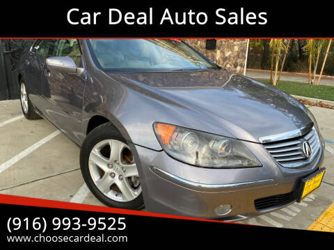 2007 Acura RL for sale at Car Deal Auto Sales in Sacramento CA