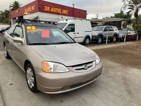 2002 Honda Civic for sale at 3K Auto in Escondido CA