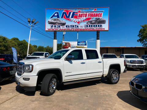 2018 GMC Sierra 1500 for sale at ANF AUTO FINANCE in Houston TX