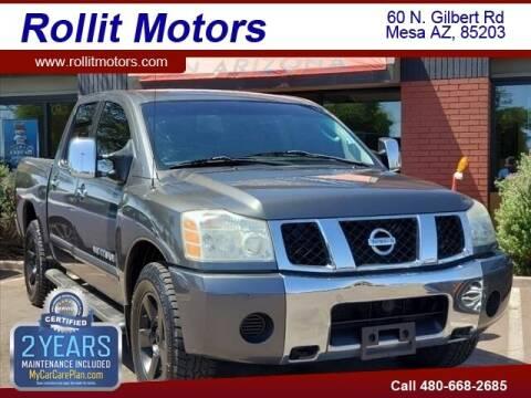 2005 Nissan Titan for sale at Rollit Motors in Mesa AZ