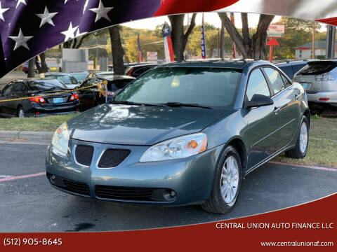 2006 Pontiac G6 for sale at Central Union Auto Finance LLC in Austin TX
