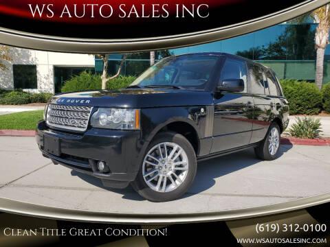 2010 Land Rover Range Rover for sale at WS AUTO SALES INC in El Cajon CA