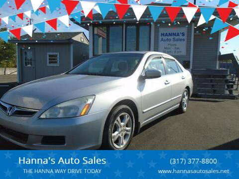 2006 Honda Accord for sale at Hanna's Auto Sales in Indianapolis IN