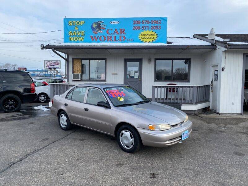 2002 Chevrolet Prizm for sale at CAR WORLD in Nampa ID