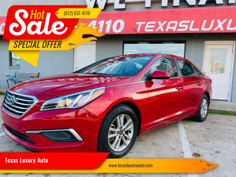 2017 Hyundai Sonata for sale at Texas Luxury Auto in Cedar Hill TX