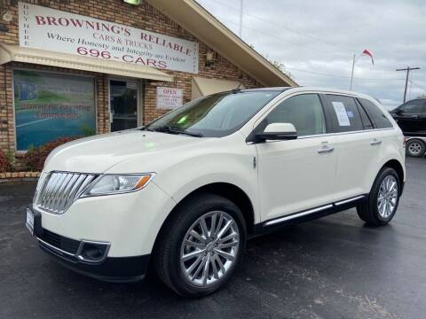 2013 Lincoln MKX for sale at Browning's Reliable Cars & Trucks in Wichita Falls TX