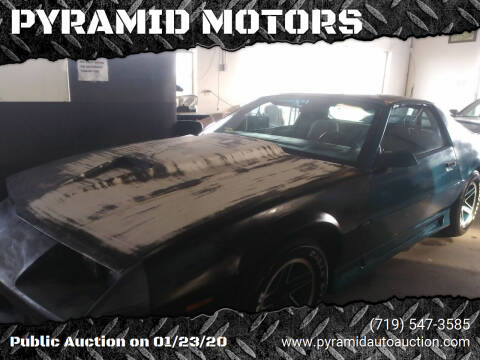 1991 Chevrolet Camaro for sale at PYRAMID MOTORS - Pueblo Lot in Pueblo CO