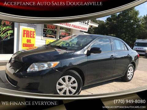 2009 Toyota Corolla for sale at Acceptance Auto Sales Douglasville in Douglasville GA