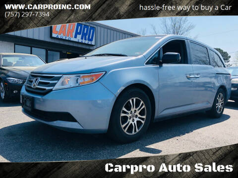 2012 Honda Odyssey for sale at Carpro Auto Sales in Chesapeake VA