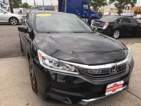 2017 Honda Accord for sale at United Auto Sales of Newark in Newark NJ