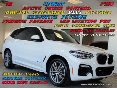 2018 BMW X3 for sale at SAN DIEGO BEEMERS in San Diego CA