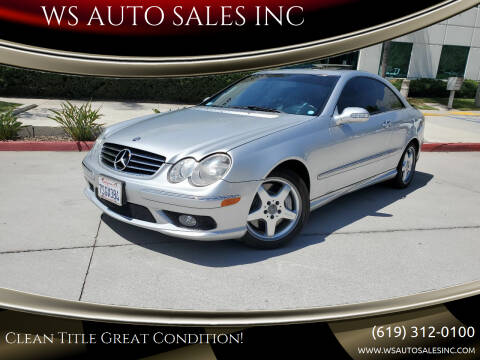 2004 Mercedes-Benz CLK for sale at WS AUTO SALES INC in El Cajon CA