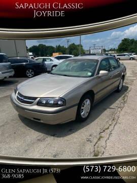 2002 Chevrolet Impala for sale at Sapaugh Classic Joyride in Salem MO
