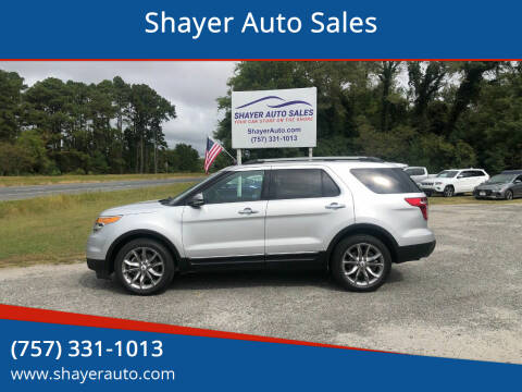 2014 Ford Explorer for sale at Shayer Auto Sales in Cape Charles VA