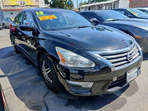 2015 Nissan Altima for sale at Rey's Auto Sales in Stockton CA