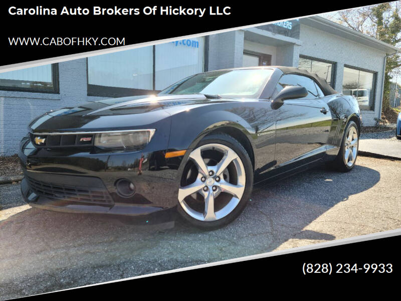 2015 Chevrolet Camaro for sale at Carolina Auto Brokers of Hickory LLC in Newton NC