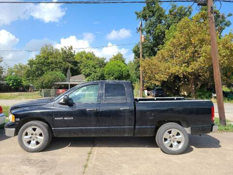 2003 Dodge Ram Pickup 1500 for sale at G&J Car Sales in Houston TX