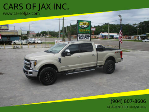 2018 Ford F-250 Super Duty for sale at CARS OF JAX INC. in Jacksonville FL