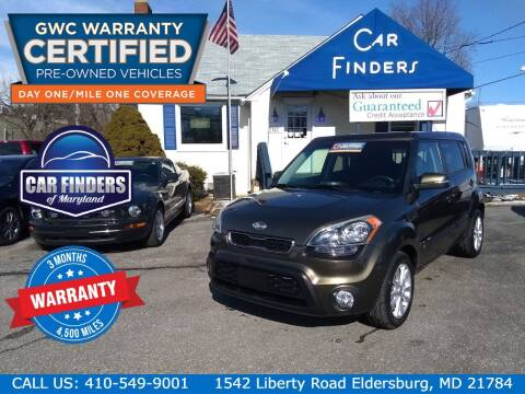 2012 Kia Soul for sale at CAR FINDERS OF MARYLAND LLC in Eldersburg MD