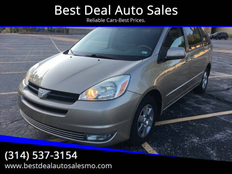 2005 Toyota Sienna for sale at Best Deal Auto Sales in Saint Charles MO