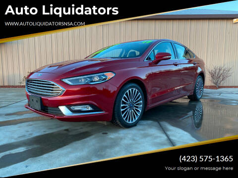 2017 Ford Fusion for sale at Auto Liquidators in Bluff City TN