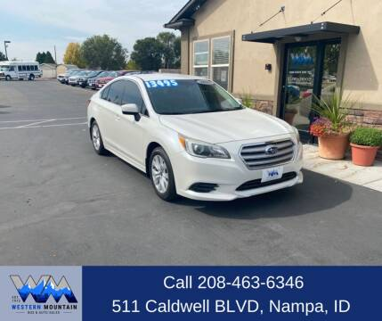 2016 Subaru Legacy for sale at Western Mountain Bus & Auto Sales in Nampa ID