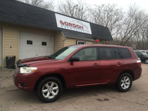 2008 Toyota Highlander for sale at Gordon Auto Sales LLC in Sioux City IA