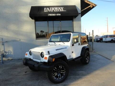 2001 Jeep Wrangler for sale at FAIRWAY AUTO SALES, INC. in Melrose Park IL