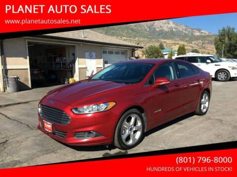 2014 Ford Fusion Hybrid for sale at PLANET AUTO SALES in Lindon UT