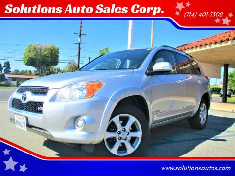2010 Toyota RAV4 for sale at Solutions Auto Sales Corp. in Orange CA