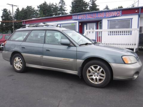2002 Subaru Outback for sale at 777 Auto Sales and Service in Tacoma WA
