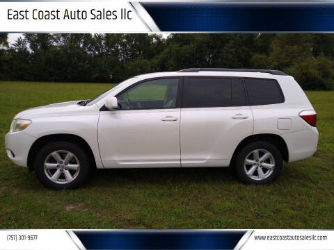 2010 Toyota Highlander for sale at East Coast Auto Sales llc in Virginia Beach VA