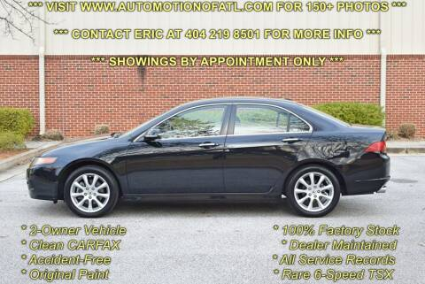 2006 Acura TSX for sale at Automotion Of Atlanta in Conyers GA