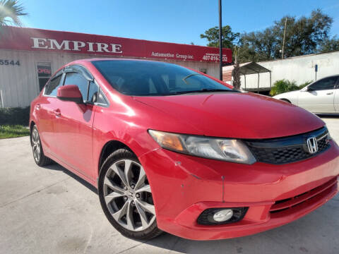 2012 Honda Civic for sale at Empire Automotive Group Inc. in Orlando FL