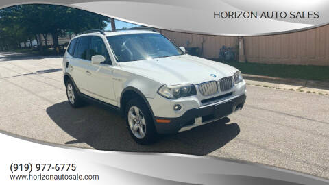 2008 BMW X3 for sale at Horizon Auto Sales in Raleigh NC