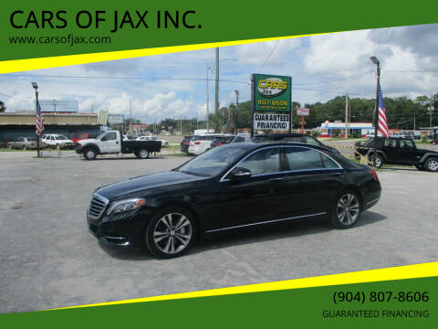 2015 Mercedes-Benz S-Class for sale at CARS OF JAX INC. in Jacksonville FL