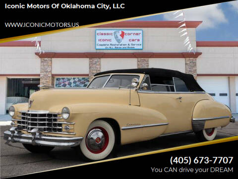 1947 Cadillac Eldorado for sale at Iconic Motors of Oklahoma City, LLC in Oklahoma City OK