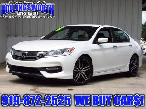 2017 Honda Accord for sale at Hollingsworth Auto Sales in Raleigh NC