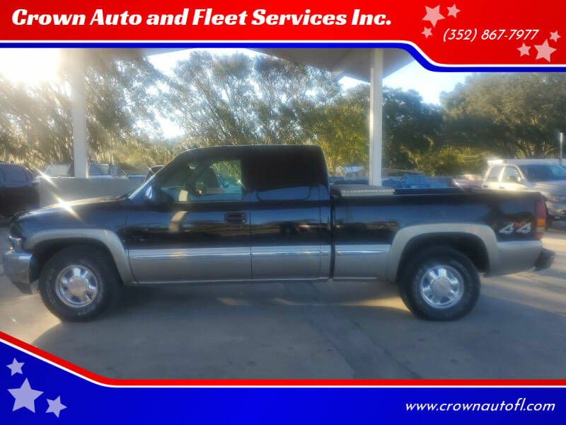 2002 GMC Sierra 1500 for sale at Crown Auto and Fleet Services Inc. in Ocala FL